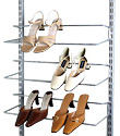 White elfa Easy Hang Shoe Rack