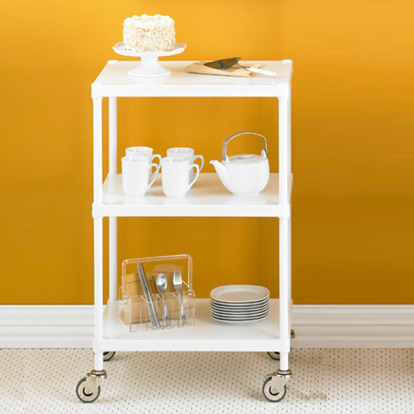 InterMetro Solid Shelf Serving Cart