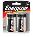 Energizer D Batteries Pkg/2