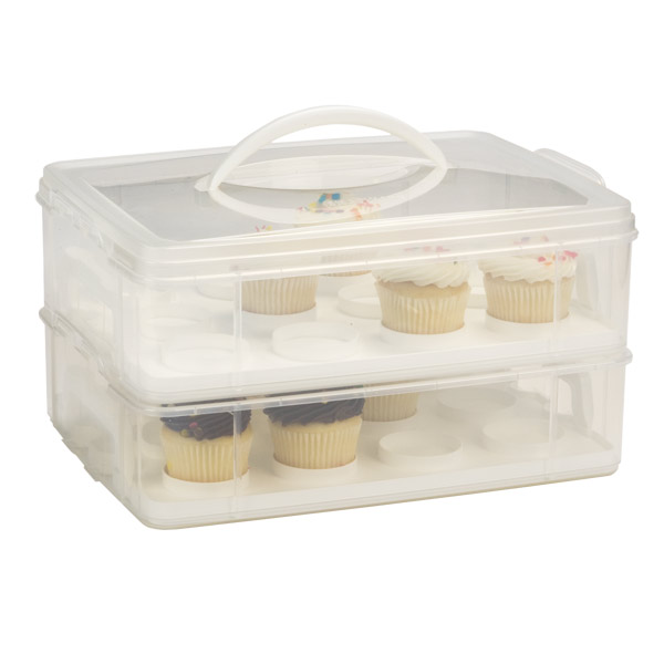 Snap 'n Stack™ 2-Tier Cupcake Carrier