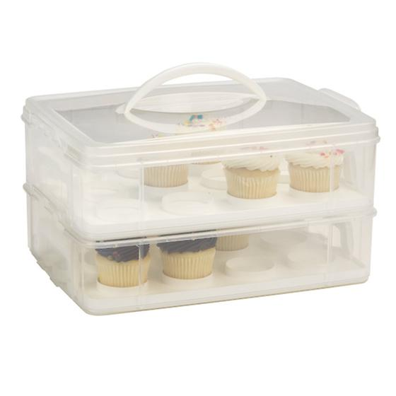 Snap 'n Stack 2-Tier Cupcake Carrier