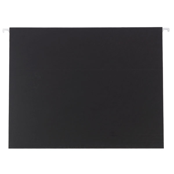 Letter-Size Hanging File Folders Black Pkg/6
