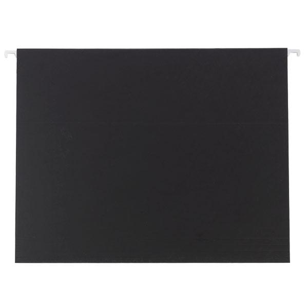 Letter-Size Hanging File Folders Black Pkg/6