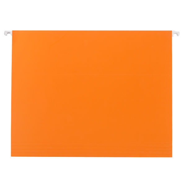 Letter-Size Hanging File Folders Orange Pkg/6