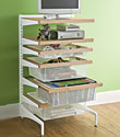 Birch & White elfa décor freestanding Entertainment Drawers