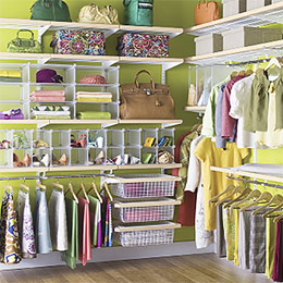 The Container Store > Birch & White elfa décor Master Walk-In Closet