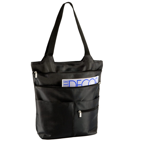 Mia Zippered Tote Charcoal