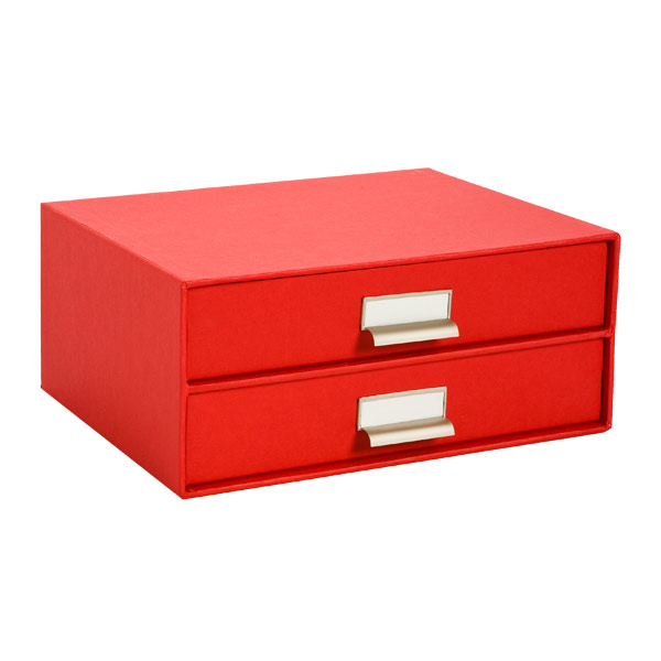 Bigso Stockholm Paper Drawers Red