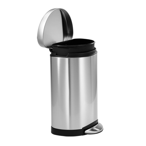 simplehuman® 2.6 gal. Semi-Round Step Can