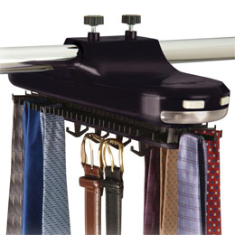 Lighted Revolving Tie Rack