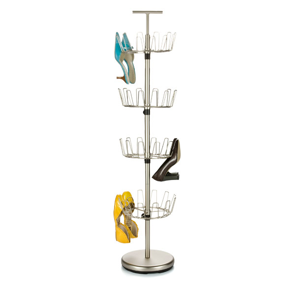 4-Tier Shoe Tree Satin Nickel