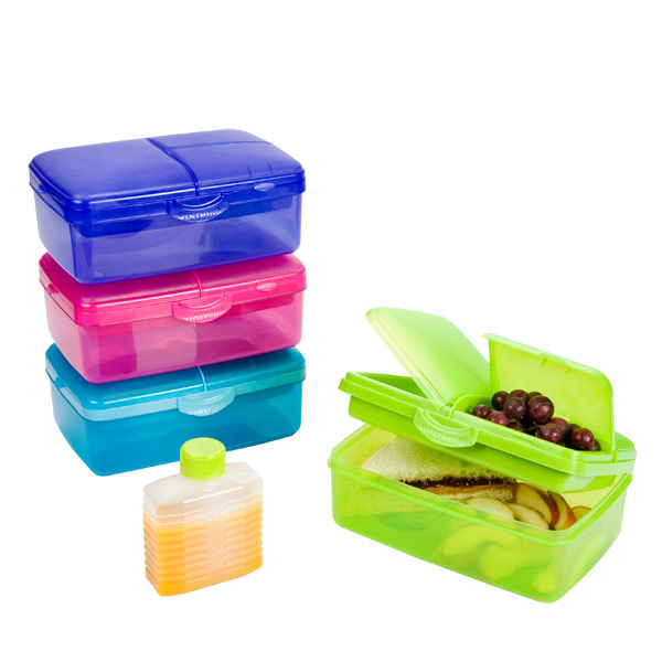 50 oz. Slimline Quaddie Lunchbox 1.5 ltr.Assorted