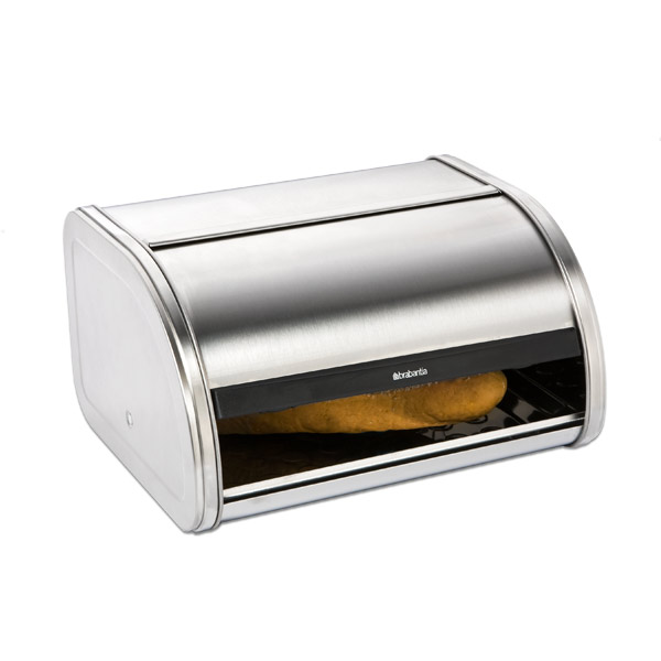 Stainless Steel Roll-Top Bread Box