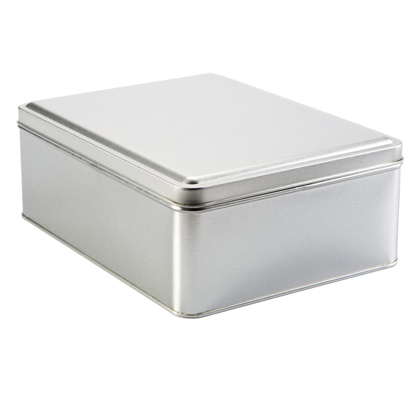Silver Rectangular Tin