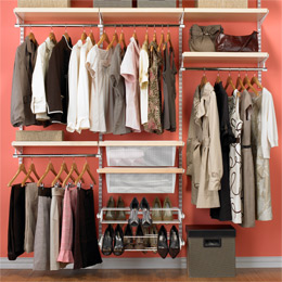 Birch & White elfa décor Perfect Reach-In Closet