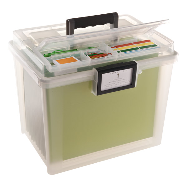 Weathertight Portable File Tote Translucent