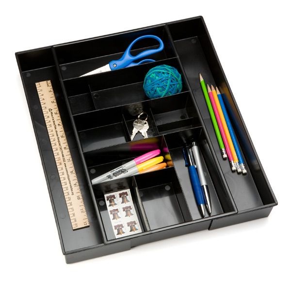 Desk Expand-a-Drawer Black