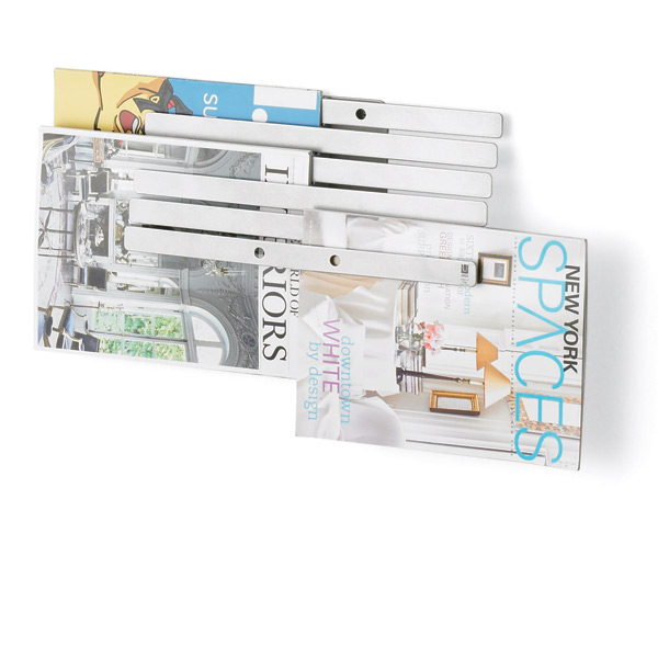 Umbra Illuzine Magazine Rack Silver