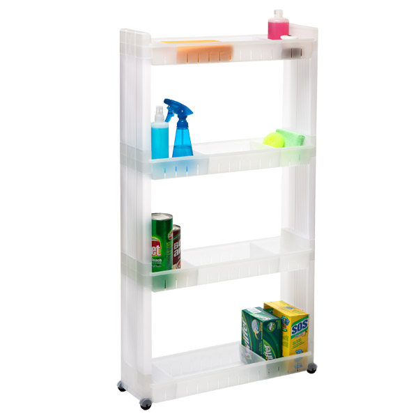 4 Tier Slim Cart The Container Store