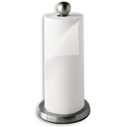 Nickel Teardrop Paper Towel Holder by Umbra