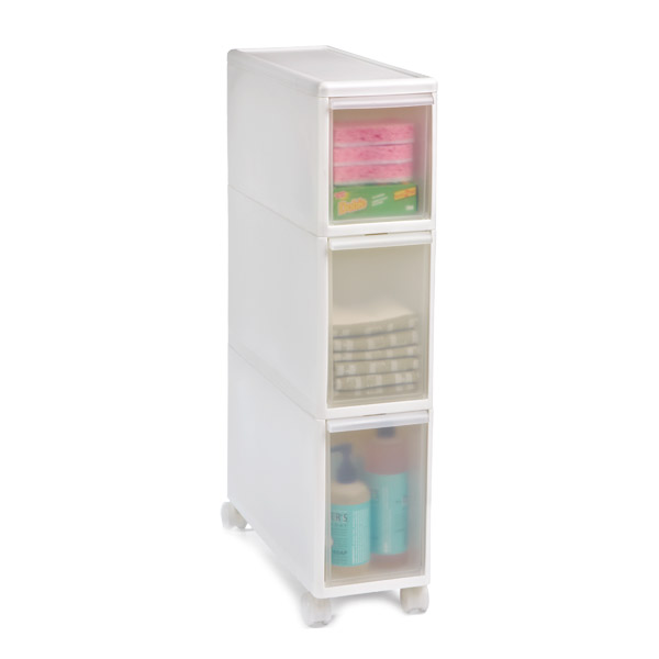 Like-it Slim Tower w/ Casters White