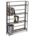 4-Shelf Iron Folding Media Rack