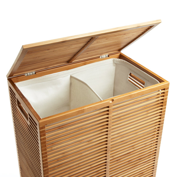 Zen Bamboo Laundry Hamper The Container Store