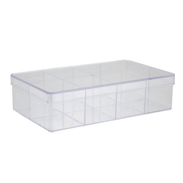 8-Compartment Rectangle Clear