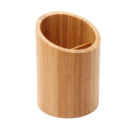 Divided Bamboo Utensil Holder