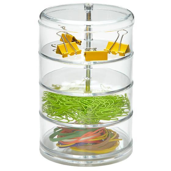 4-Section Acrylic Swivel Organizer