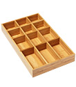 12-Section Shallow Bamboo Tray