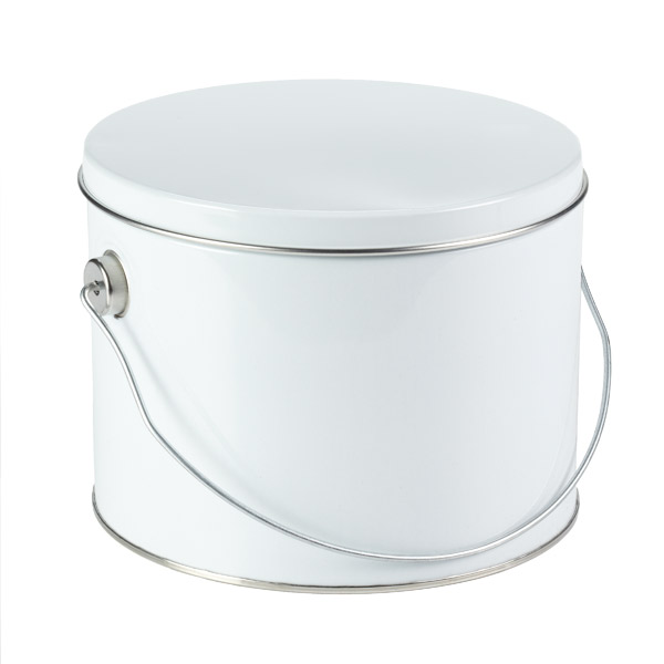 1/2 gal. Tin with Handle White