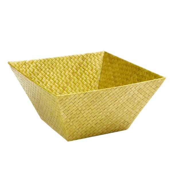 Medium Square Pandan Basket Olive