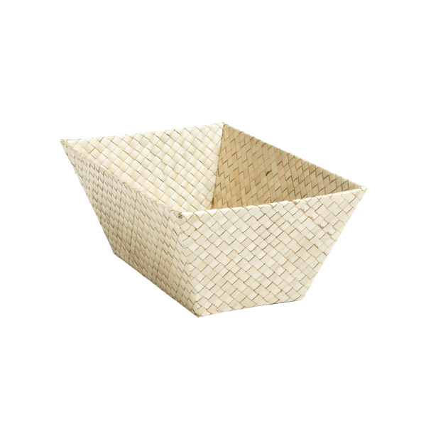 Small Rectangular Pandan Basket Natural