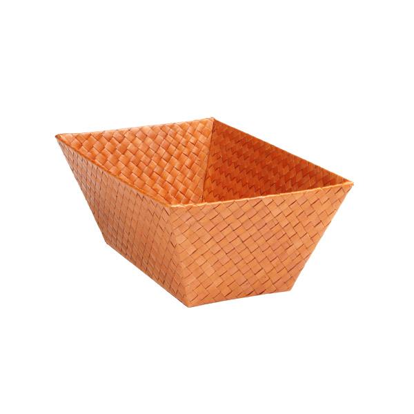 Small Rectangular Pandan Basket Orange