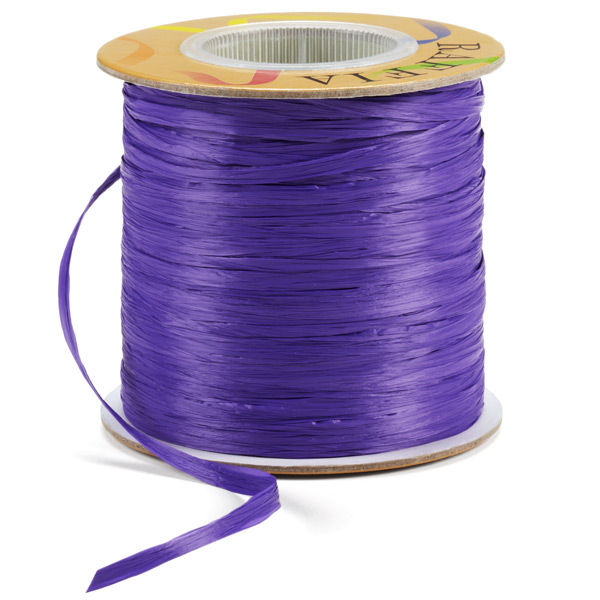 Raffia Ribbon Matte Purple