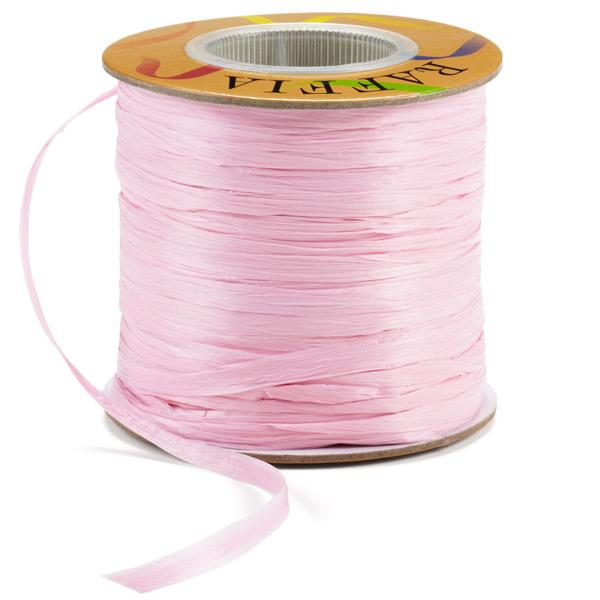 Raffia Ribbon Matte Pink