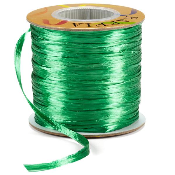 Raffia Ribbon Pearl Emerald