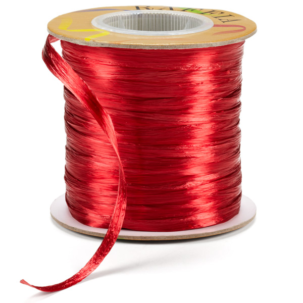 Raffia Ribbon Pearl Red