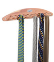 Cedar 21-Peg Tie Rack