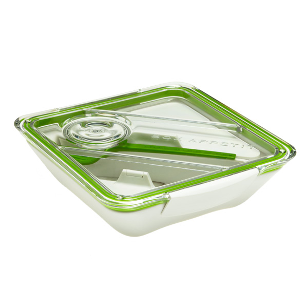 Box Appetit Lunch Box Lime/White