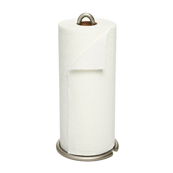 Euro Paper Towel Holder Satin Nickel
