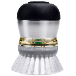 Stainless SteeL Soap Dispensing Palm Brush