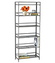 6-Shelf Iron Folding Bookcase