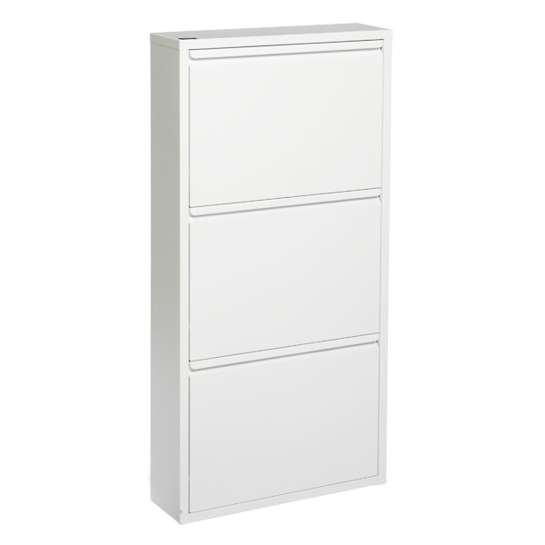 3 drawer shoe cabinet the container store. Black Bedroom Furniture Sets. Home Design Ideas