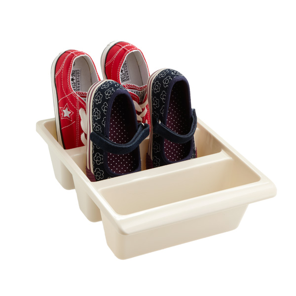 3-Section Shoe Bin