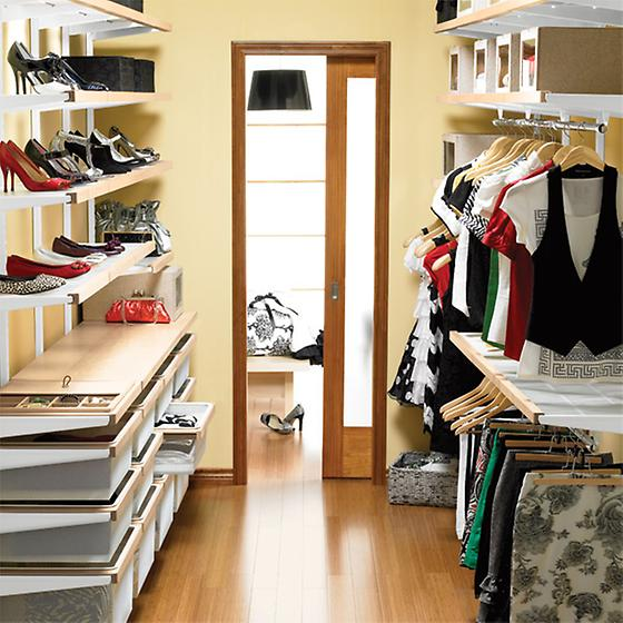 Birch & White elfa décor Organized Walk-In Closet