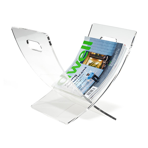 X Magazine Rack Clear