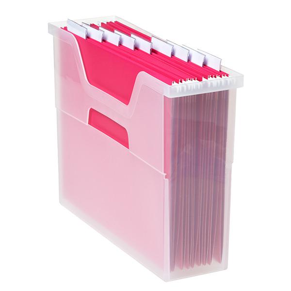 Small Open Top File Box Translucent
