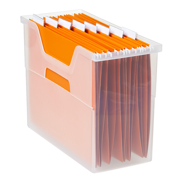 Medium Open Top File Box Translucent